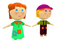 3ds max cartoon kids