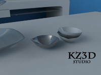 small serving bowl 3d model