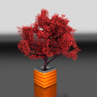 3d model modelled tree pot