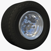3d race car wheel tire