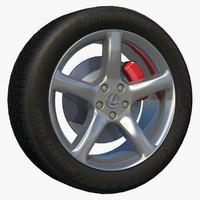 3d sport 5 spoke wheel model
