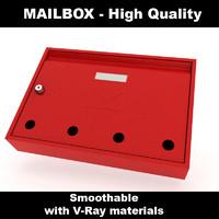 mail box materials 3d