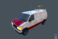 van tv radio 3d model