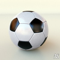 3d model hi-poly soccer footbal ball