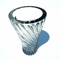 spiral twisted vase 3d fbx