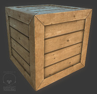 obj wooden crate