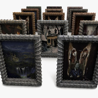 3d creepy frame paint model