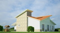3d model village house design