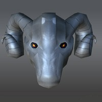 3d model helmet ram s head