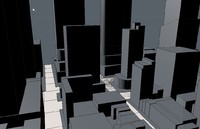 3d square city cityscape model