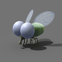 3d cartoon fly model