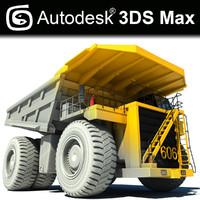 3d model of mining truck dumper