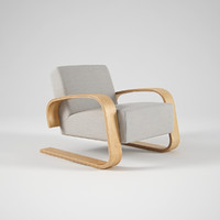3d model of artek armchair 400