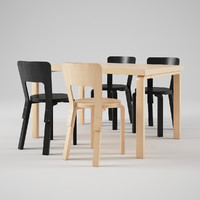 Artek Chair 66 Table 82B Artek Stool E60