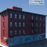 Low Poly Ghetto Building 3