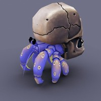 3d cartoon crab