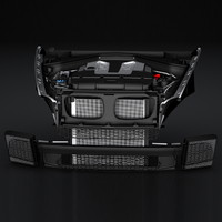 3d model engine bmw x5 x6