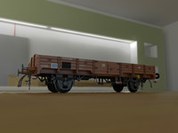 3d german wagon ho model