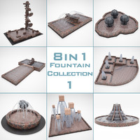 3d model of fountain 8 1