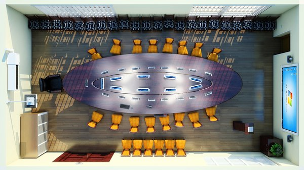 conference hall set 3d model - conference hall Set... by Turnado