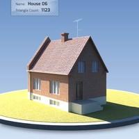house scandinavian 3d model