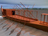3d royal ship cheops khufu model