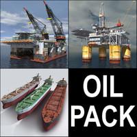 3d model oil crane vessel