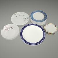 3d model plate bowl