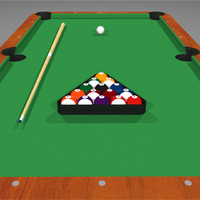 3d pool billiards model