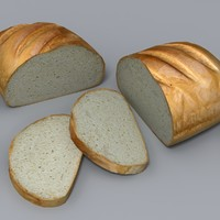 maya realistic sliced loaf