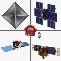 satellites 4 3d model