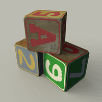 Old Toy Wooden Blocks