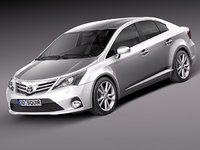 3ds max toyota avensis sedan 2013