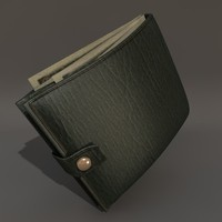 3d model leather wallet