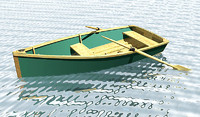 small boat dxf