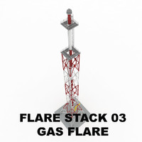 flare stack gas 03 3d 3ds