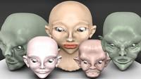 heads 3d model