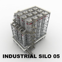 3ds max industrial silo