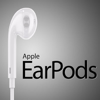 apple earpods 3d model
