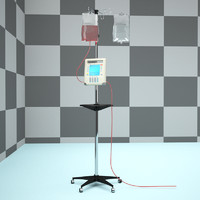 iv intravenous pump machine 3d max