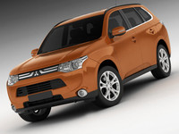 3d model mitsubishi outlander 2013