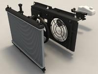 3d model car radiator parts