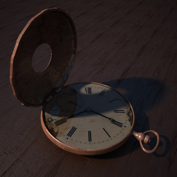 pocket watch 3d max - Pocket Watch v2... by XDAE