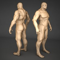 3ds max male body
