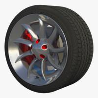 sport wheel rim 3d obj