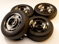 3d model wheels metal tires