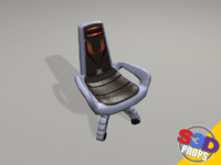 3ds max sci-fi chair