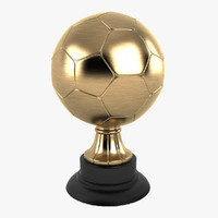 trophy soccer ball 3d model