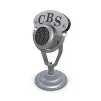 3d model vintage microphone 01