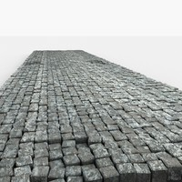 Cobble Pavement Road Stone Blocks